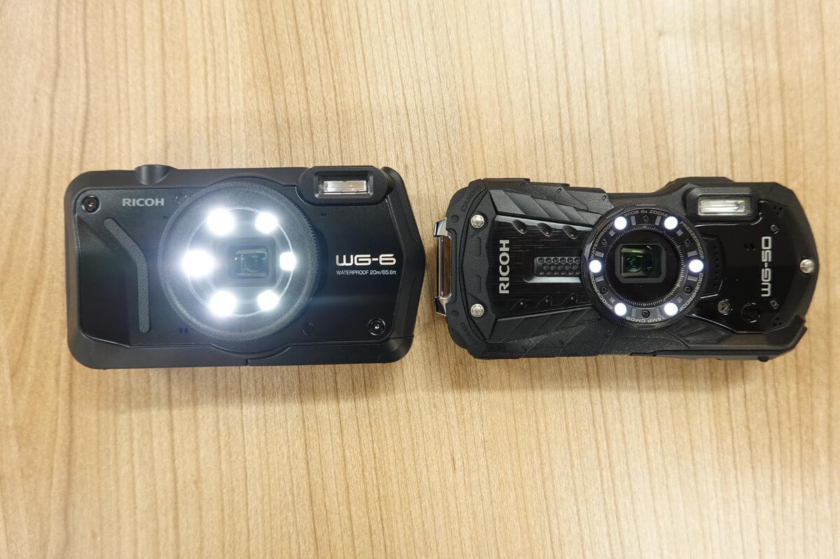 RICOH WG6,WG60,WG50の違いを比較 4. WG-6はリングライトの明るさが10倍に