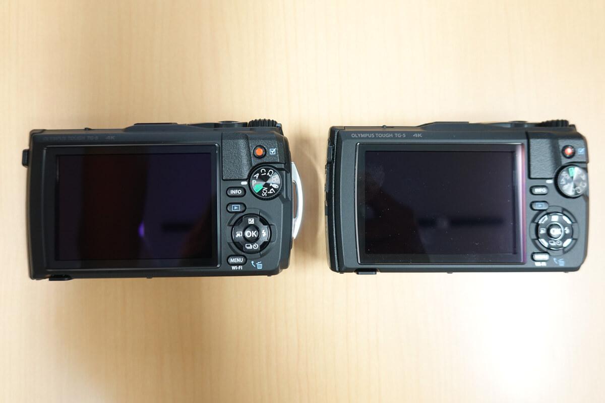 オリンパス「Tough TG-6」「Tough TG-5」の違いを比較 5. 本体外観・オプションは若干の違い