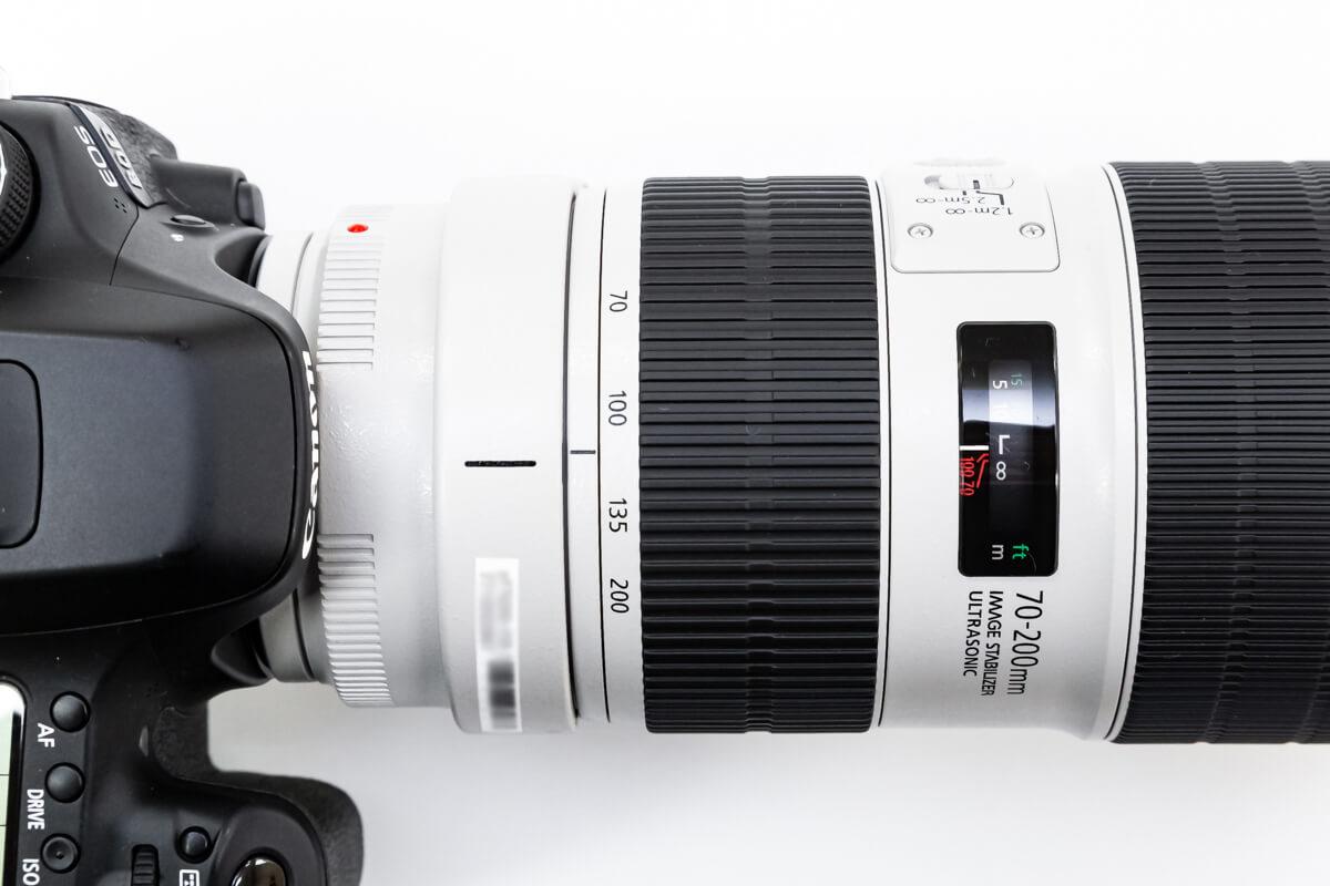 EF70-200mm F2.8L IS III USM 焦点距離