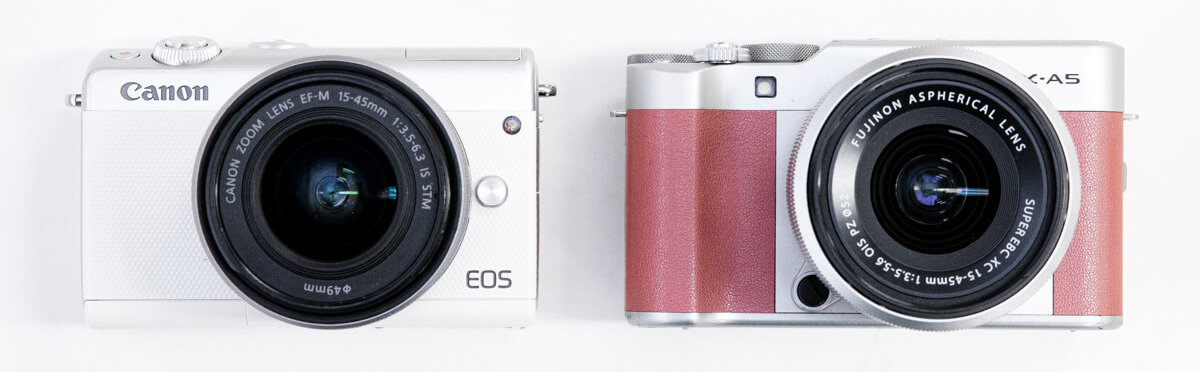 Canon EOS M100 FUJIFILM X-A5 大きさ 比較