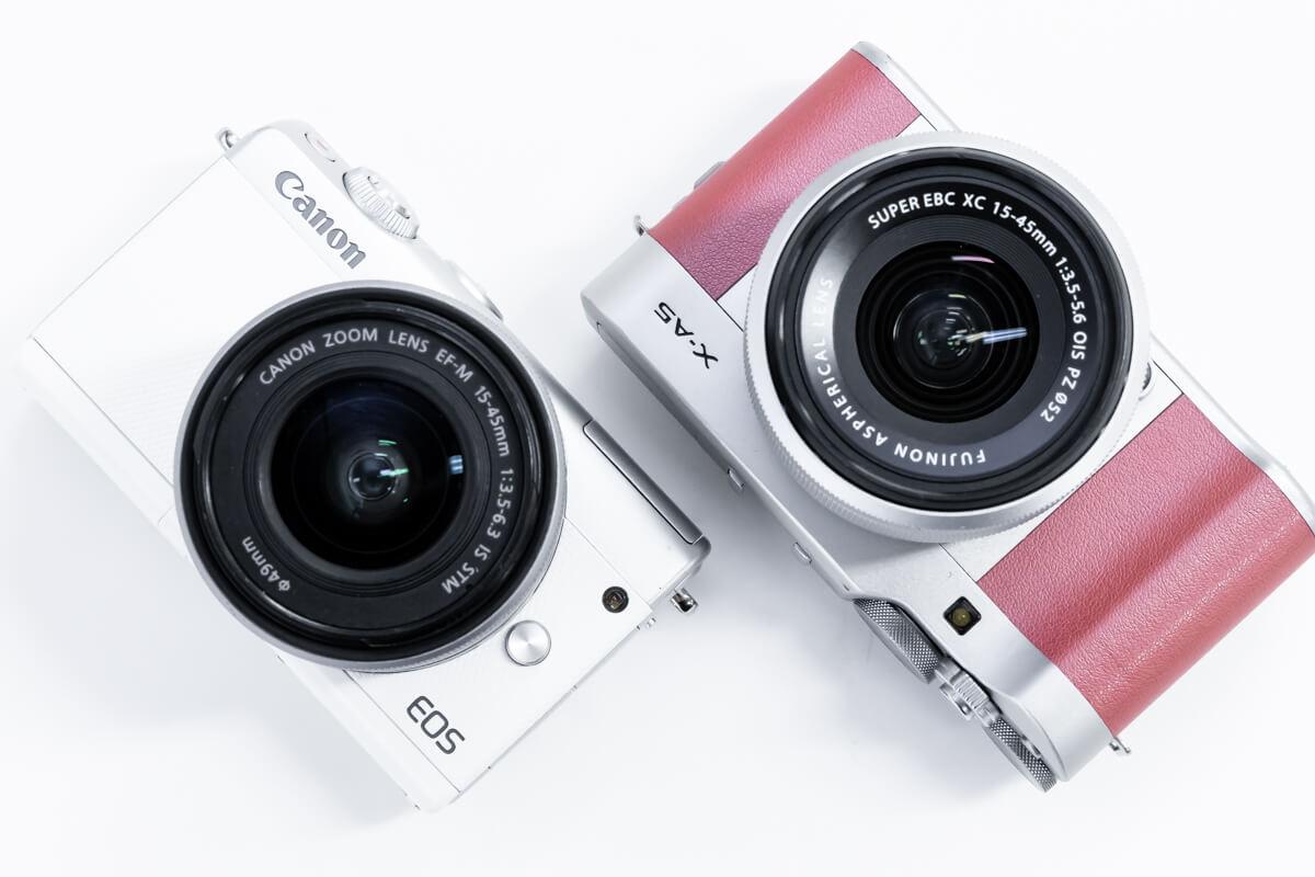 Canon EOS M100 FUJIFILM X-A5 比較
