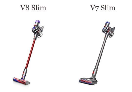 ダイソンV8スリムとV7スリムを比較