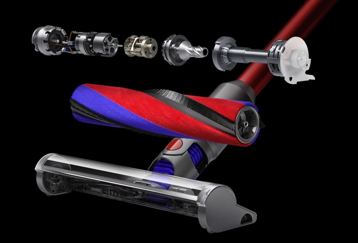 ダイソン V8 スリムの特長 新しい小型スリムソフトローラークリーナーヘッド