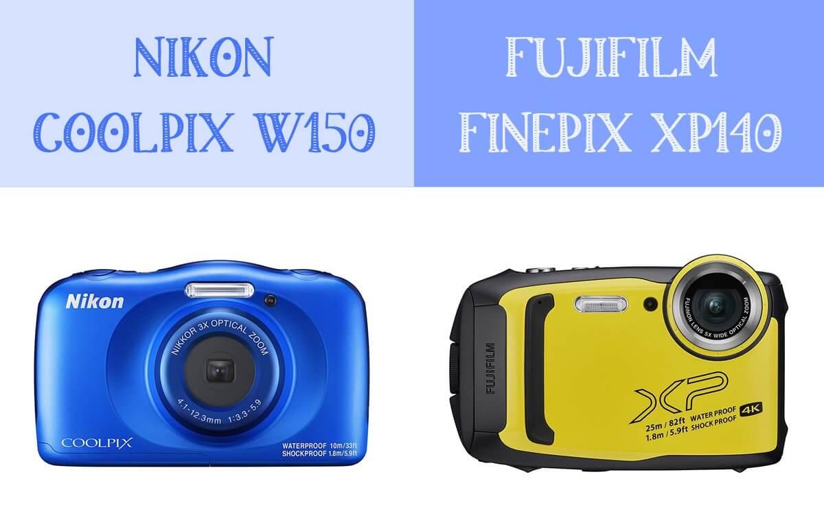 初心者向け防水カメラNikon COOLPIX W150とFUJIFILM FinePix XP140を比較!価格vs機能どちらを選ぶ?