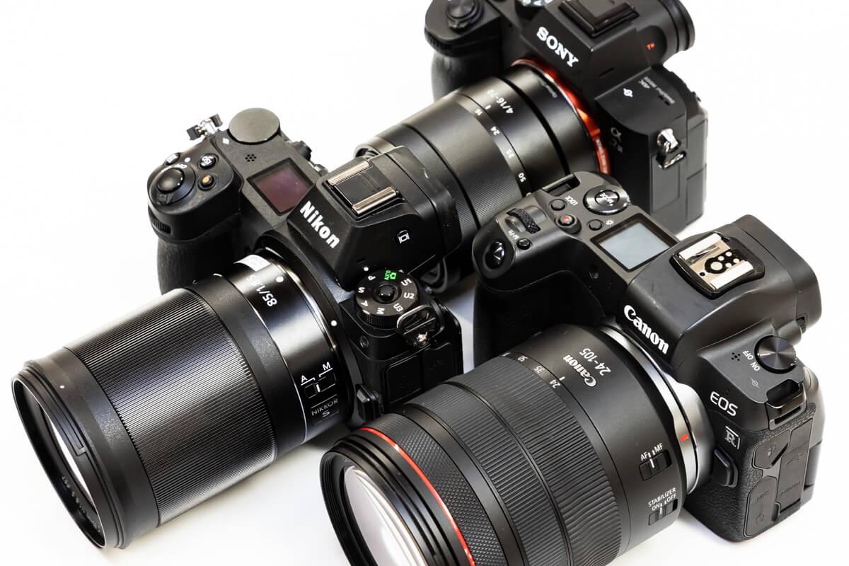 Canon EOS R Nikon Z6 SONY α7 III 通信機能 比較
