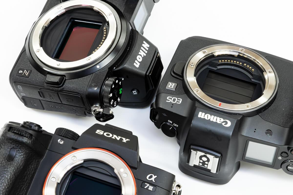 Canon EOS R Nikon Z6 SONY α7 III 画素数 比較