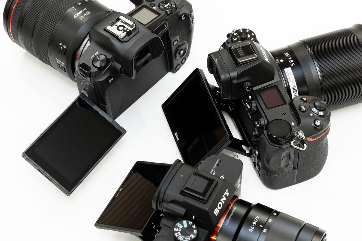 Canon EOS R Nikon Z6 SONY α7 III 液晶画面 比較