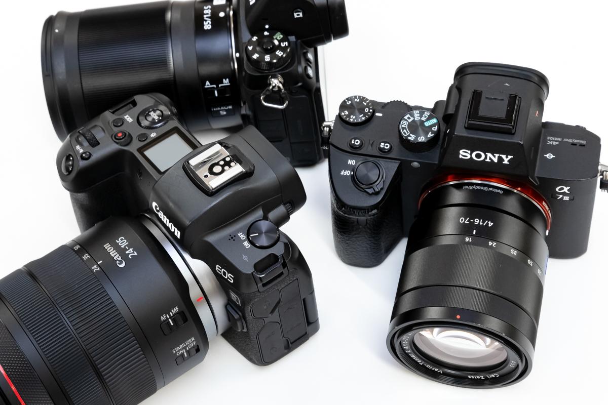 Canon EOS R Nikon Z6 SONY α7 III 比較