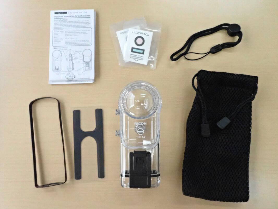 防水ハウジングケース「TW-1」開封&外観レビュー 防水ハウジングケースTW-1の同梱品