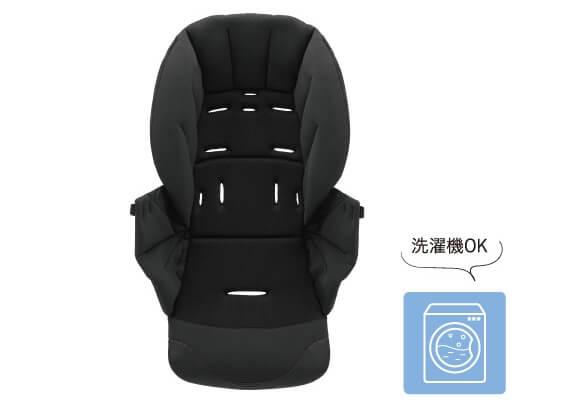 コンビのベビーカーX5(クロスゴー)の特長 赤ちゃんの乗り心地も快適 シートはすべて洗濯機で丸洗い