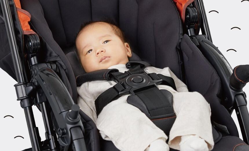 コンビのベビーカーX5(クロスゴー)の特長 赤ちゃんを守る5つの機能