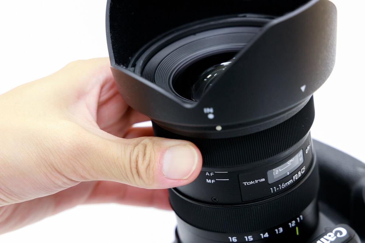 Tokina atx-i 11-16mm F2.8 CF ワンタッチフォーカスクラッチ機構