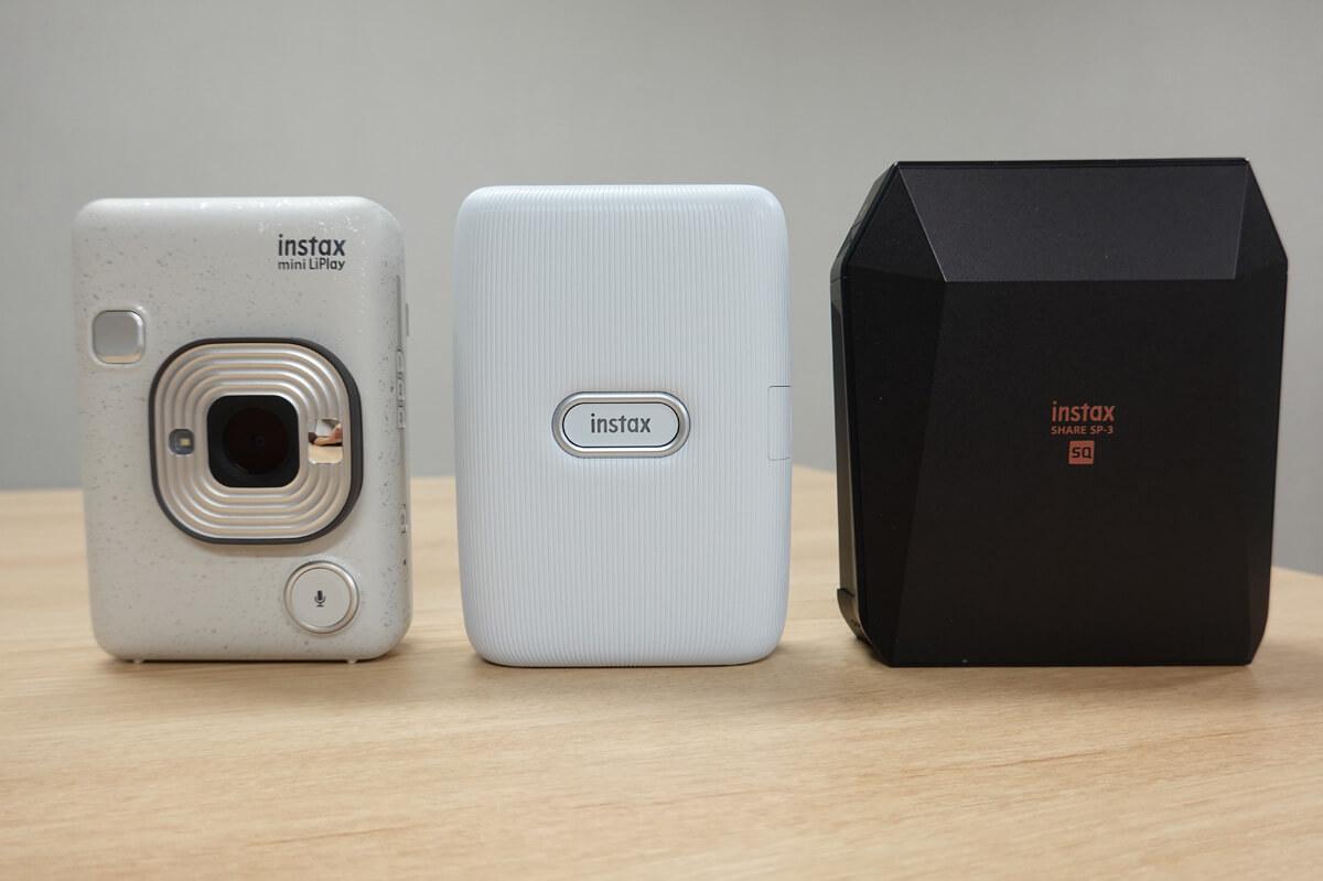 スマホの写真を印刷できる現行チェキは3機種