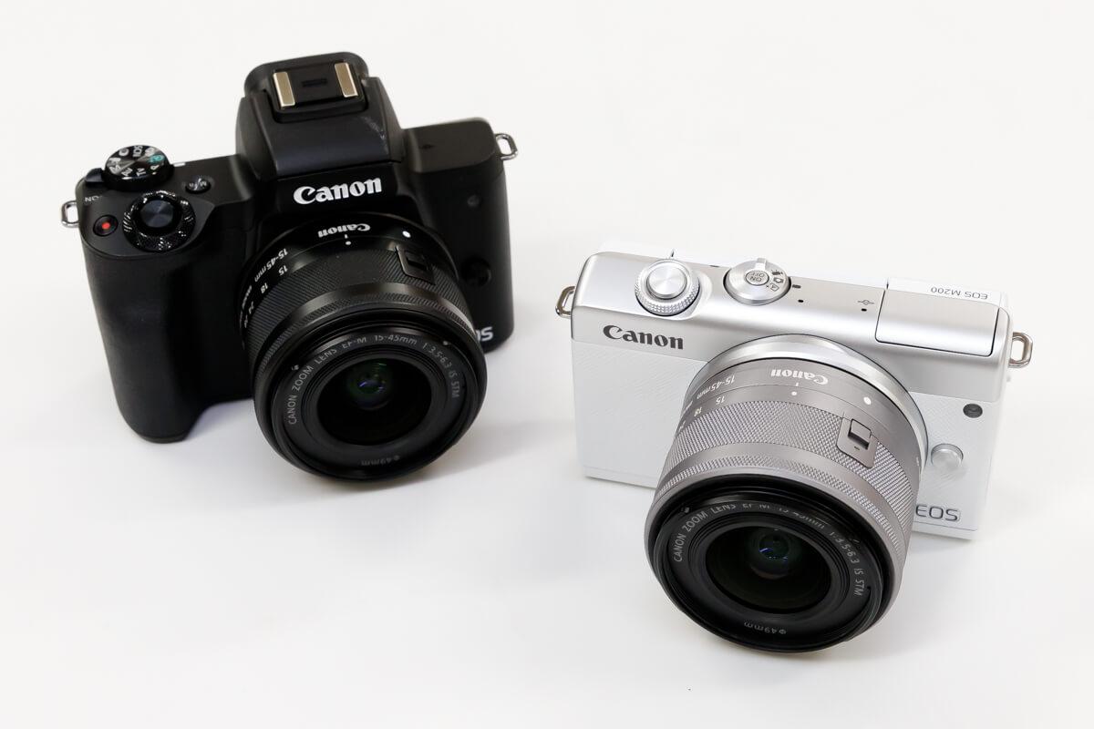 Canon EOS M200 EOS Kiss M 比較