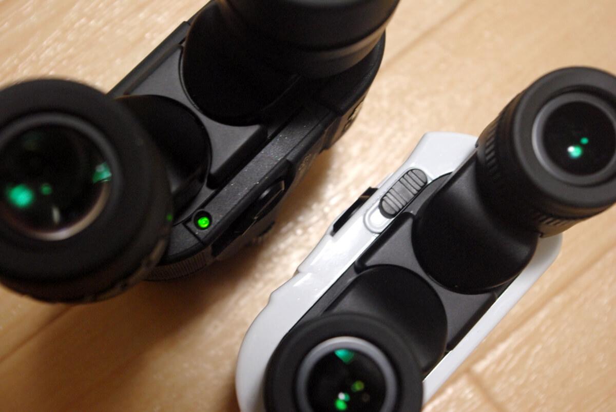 ケンコー防振双眼鏡「VCスマート」シリーズの違いを比較 パイロットランプスライドシャッター