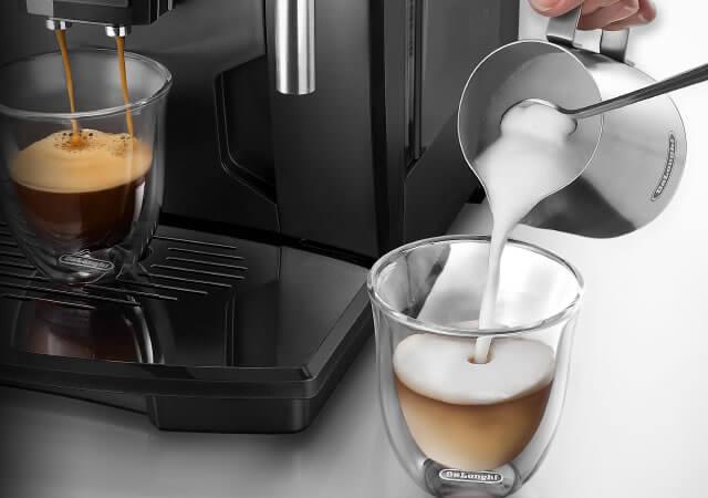 デロンギの全自動コーヒーメーカー「マグニフィカ」の特長 プロ仕様のミルクフロッサー