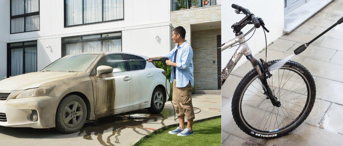 ケルヒャー高圧洗浄機 7つの活用術 5. 自動車・自転車
