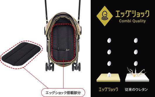 コムペット ミリミリEGの特長 快適な乗り心地 衝撃吸収素材エッグショック搭載
