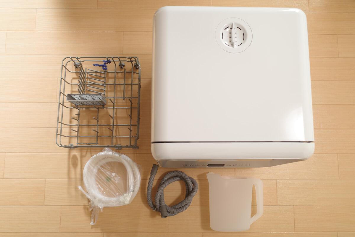シロカの食洗機を賃貸住宅で実際使ってレビュー シロカ食洗機 開封&外観レビュー 同梱品