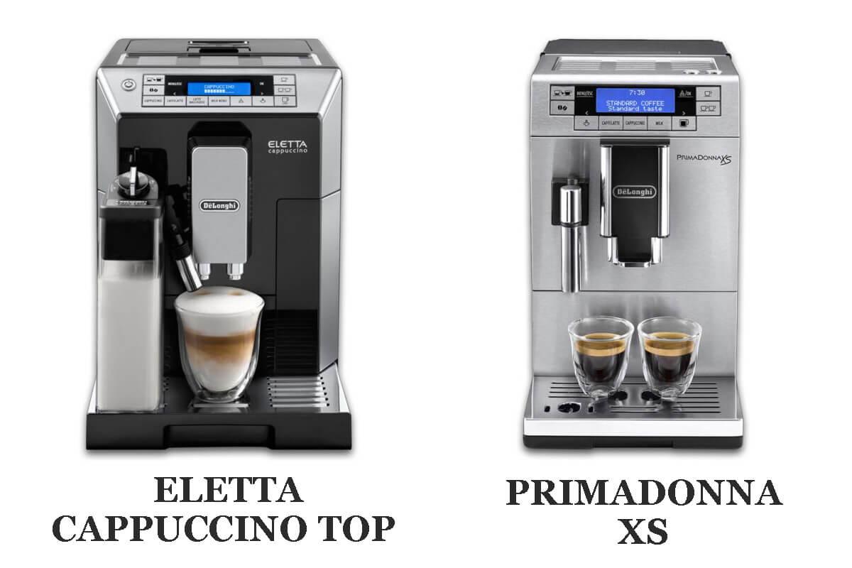 デロンギ エレッタカプチーノトップvsプリマドンナXS 5つの違いを比較!どっちがおすすめ?