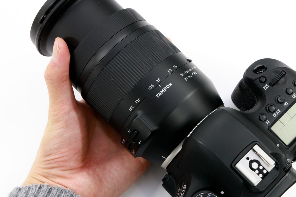 TAMRON 35-150mm F/2.8-4 Di VC OSD 焦点距離域