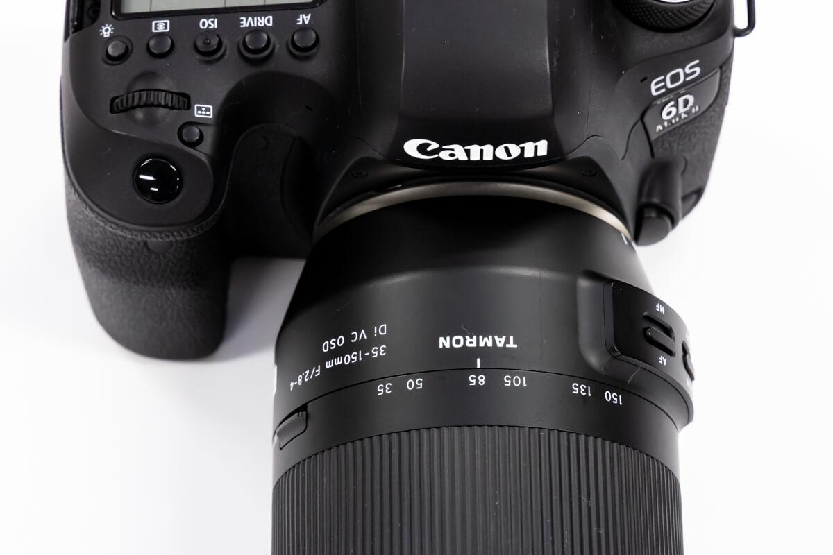 TAMRON 35-150mm F/2.8-4 Di VC OSD 焦点距離