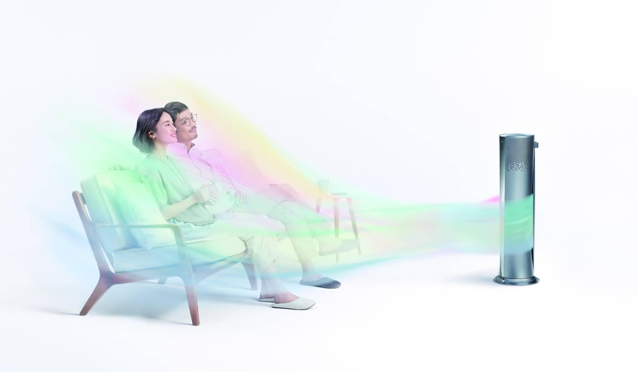 デロンギ「空気清浄機能付きファン」の特長 【温風】ふんわり穏やかに暖める