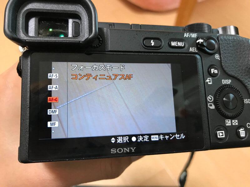 まず始めにやっておくべきカメラの基本設定 2. 半押し後もAF追尾してくれる設定に