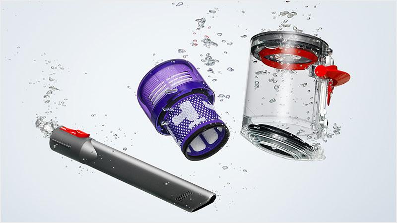 ダイソン デジタル スリムの特長 使い勝手も進化!着脱式バッテリー・液晶ディスプレイ・ダストビン水洗いOK