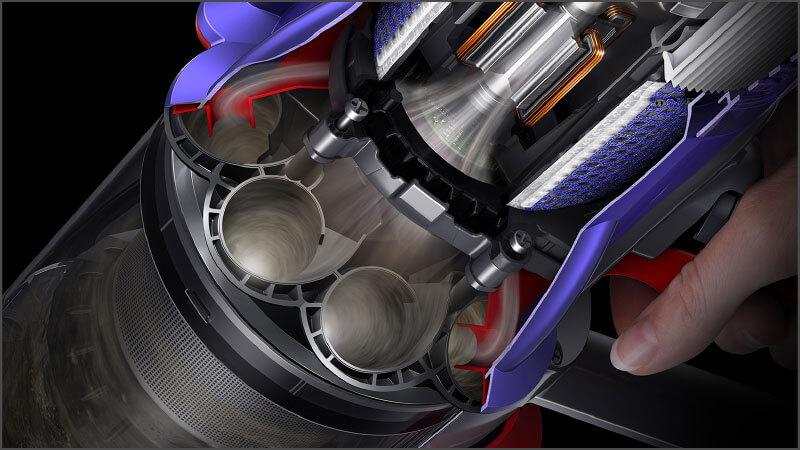 ダイソン デジタル スリムの特長 新しいサイクロンとフィルターで排気もキレイ