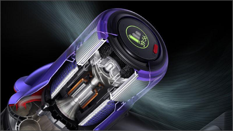 ダイソン デジタル スリムの特長 新小型モーターで吸引力は従来通りパワフル