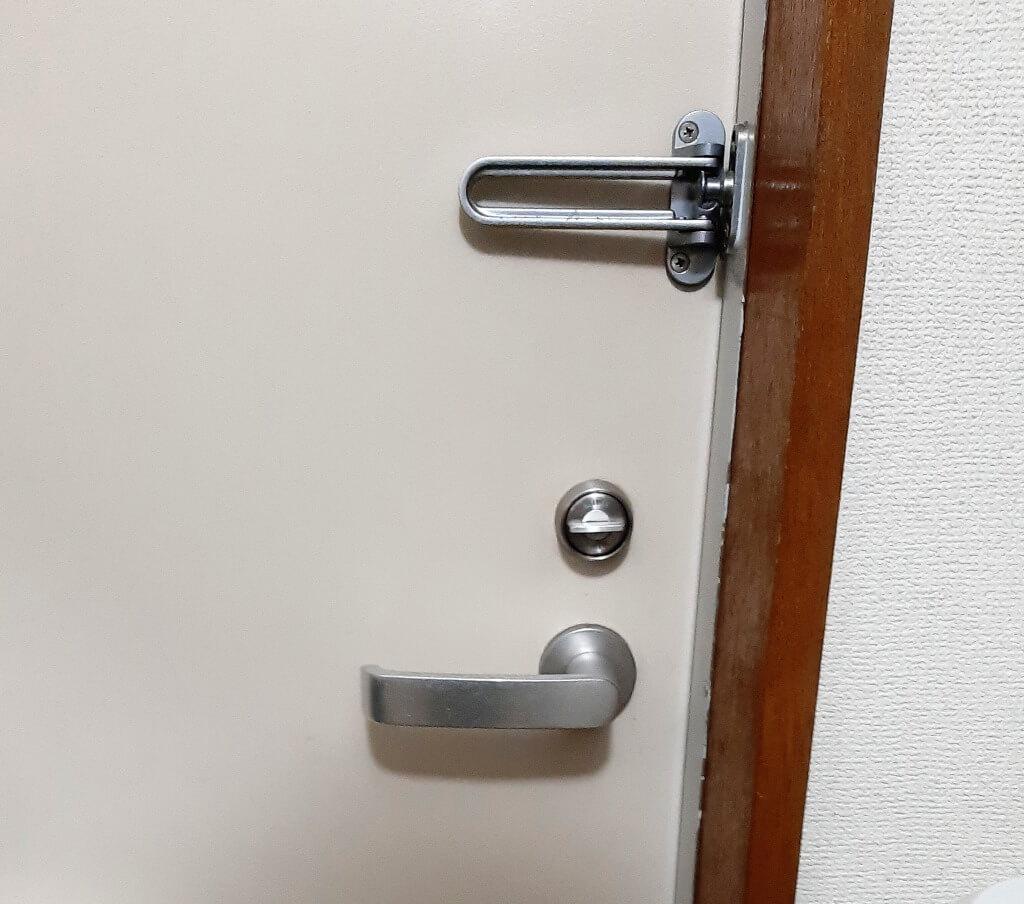 スマートロックQrio Lockを設置した時の写真