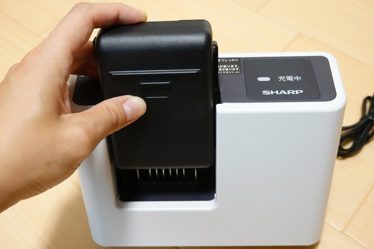 「RACTIVE Air EC-VR3S」開封&使用レビュー バッテリーを充電