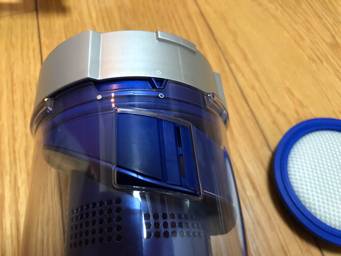Eufy HomeVac S11 Goのダストボックス