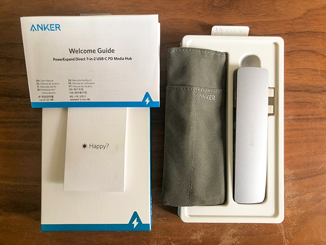Anker PowerExpand Direct 7-in-2 USB-C PD メディア ハブのパッケージ