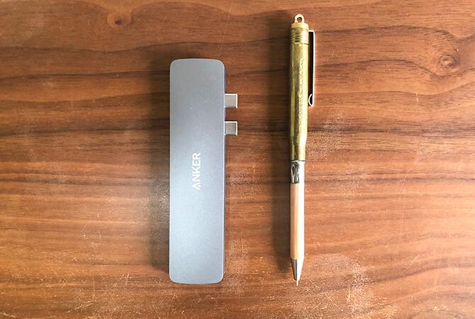Anker PowerExpand Direct 7-in-2 USB-C PD メディア ハブのサイズ