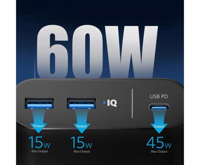 Ankerモバイルバッテリーの20,000mAh超大容量サイズは最大出力数で選ぶ