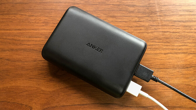 Anker PowerCore 15000 Reduxの実機レビュー!コンパクトさ重視の大容量モデル