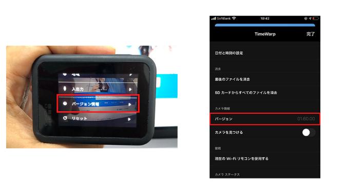 GoProのバージョン確認