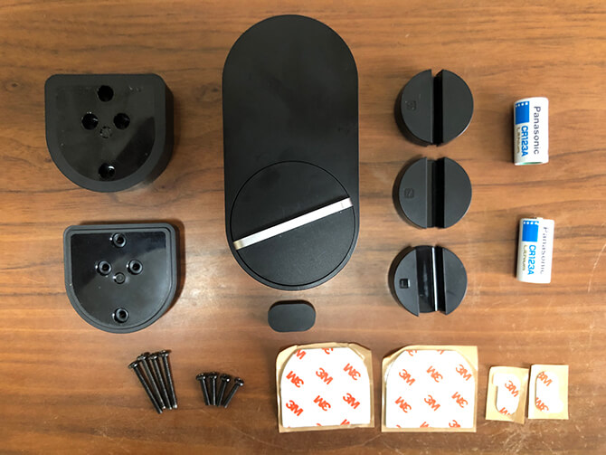 Qrio Lock Q-SL2の同梱物