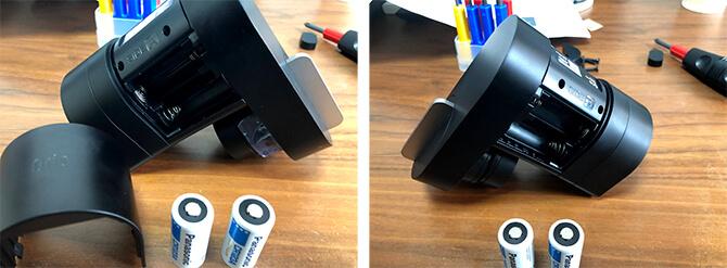 Qrio Lock Q-SL2の電池ポケット