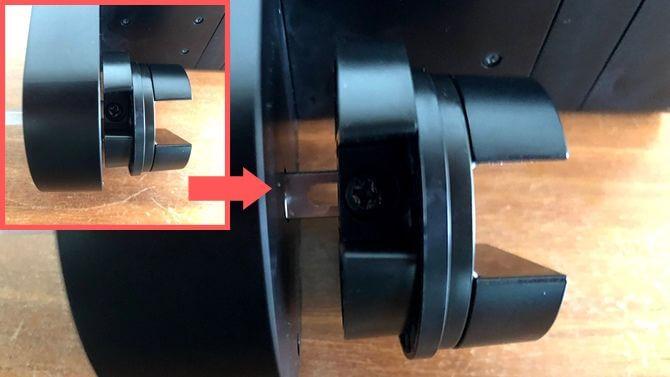 Qrio Lock Q-SL2の高さ調整ネジ