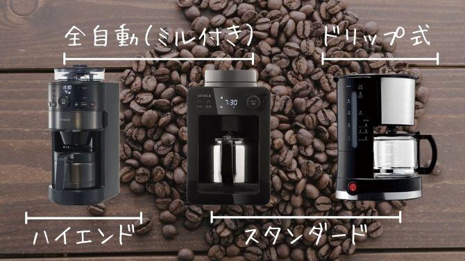 シロカ コーヒーメーカーの種類