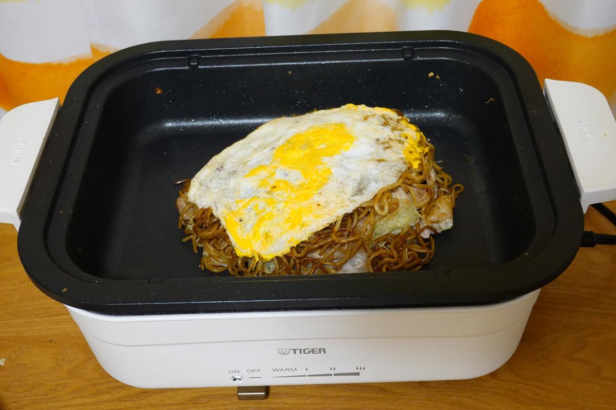 実際に「タイガー CRL-A200」で作ったホットプレート料理 広島お好み焼き