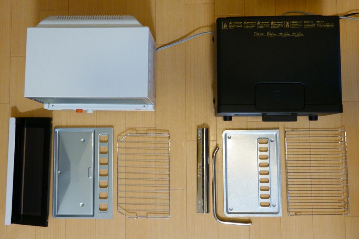 「シロカ」vs「バルミューダ」トースターを6項目で比較! 4. お手入れ 取り外してお手入れする部品