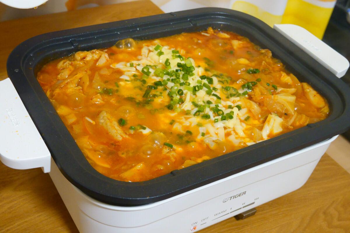 実際に「タイガー CRL-A200」で作ったホットプレート料理 チーズタッカルビ
