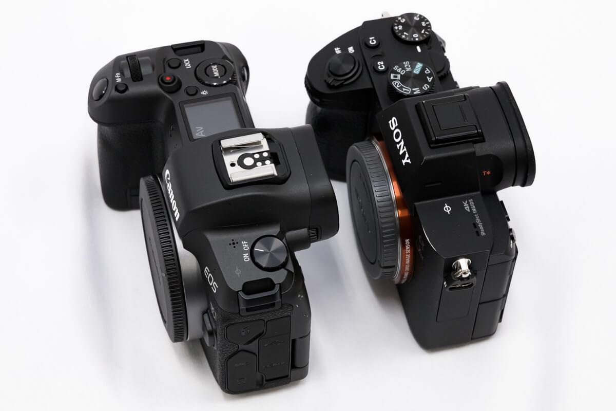 Canon EOS R SONY α7 III 大きさ