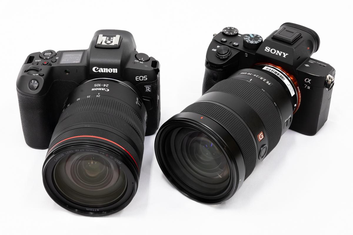 Canon EOS R SONY α7 III 比較