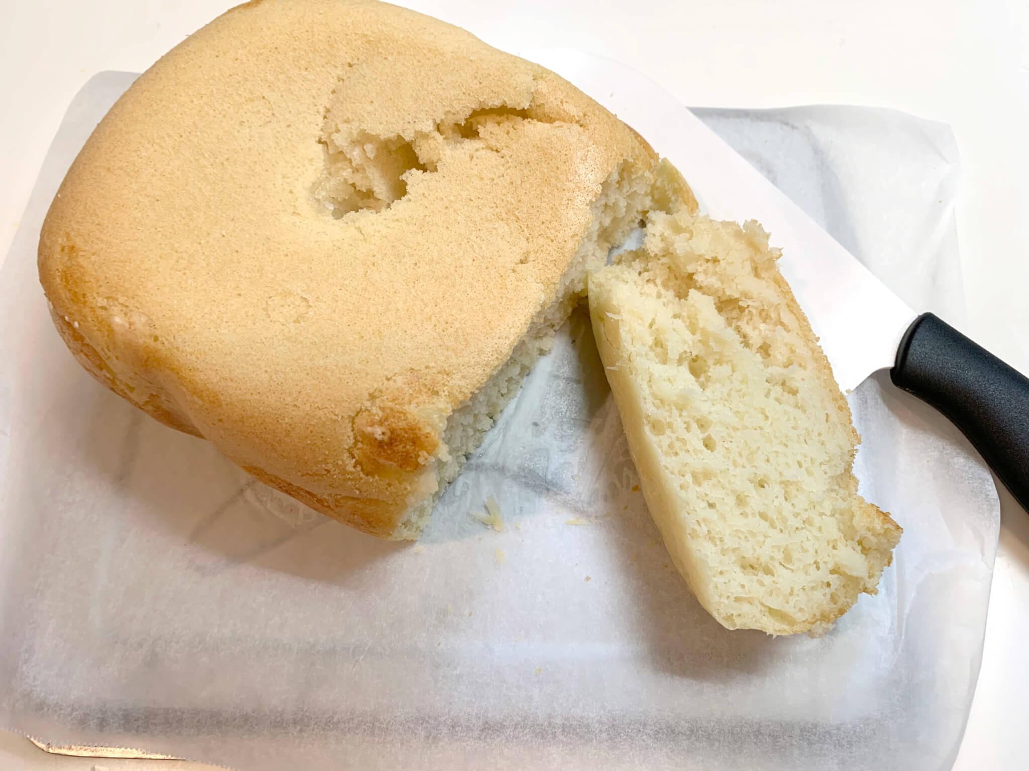 sirocaホームベーカリーSHB-712 まずは基本のパン作り 1.「背が低めの1斤分」「焼き色ふつう」「耳はかため」