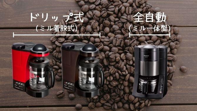 パナソニックのコーヒーメーカーの種類